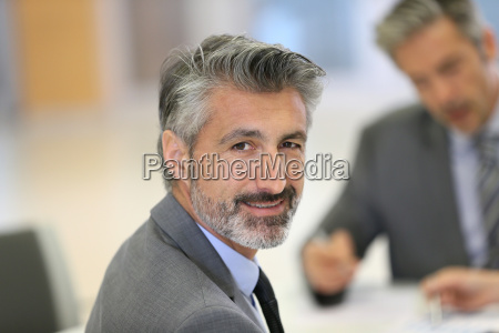 portrait of mature successful executive man