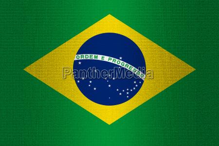 flag of brazil on stone