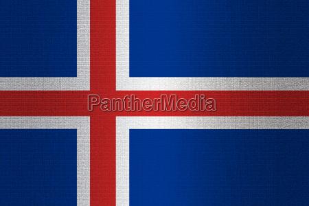 flag of iceland on stone