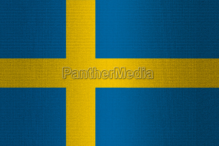 flag of sweden on stone