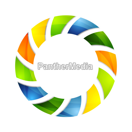 abstract colorful circle logo background