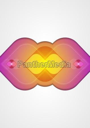 abstract wavy shape modern tech background
