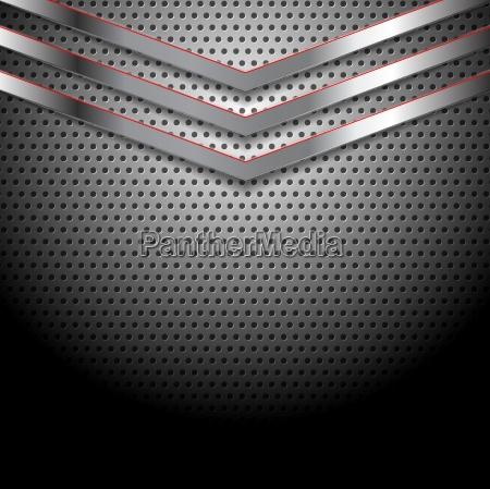 abstract perforated metallic background with arrows