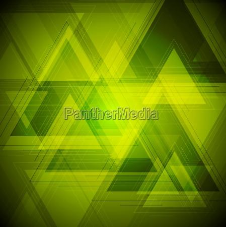 bright tech triangles background