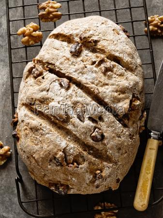 rustic artisan walnut bread