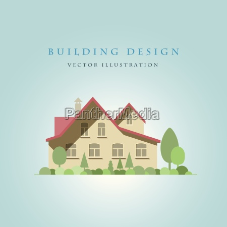 vector flat illustration of a house