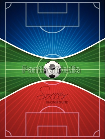 abstract blue red soccer brochure