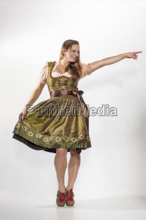 woman in dirndl dress crazy