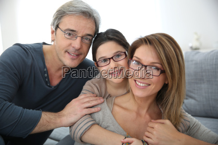 portrait of family of 3 people