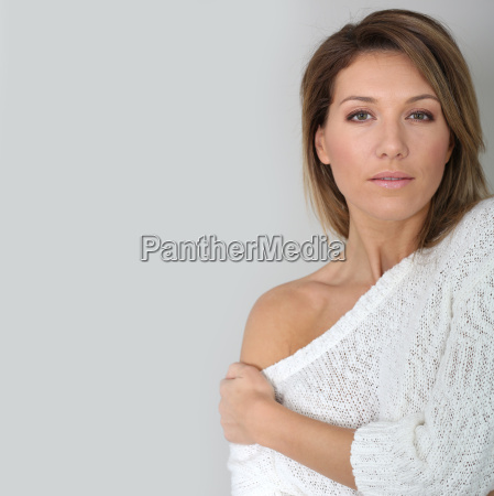 portrait of attractive middle aged woman