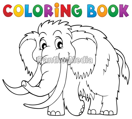 coloring book mammoth theme 1