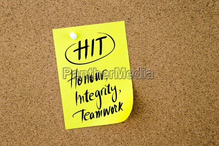 business acronym hit honour integrity teamwork
