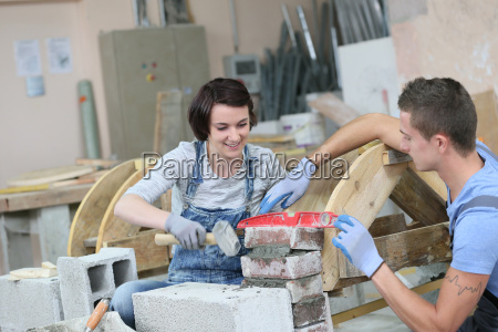 young people in craftsmanship professional training