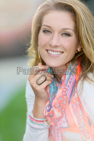 portrait of beautiful smiling woman with