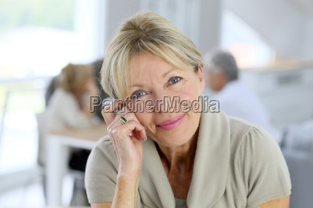 portrait of smiling senior woman people