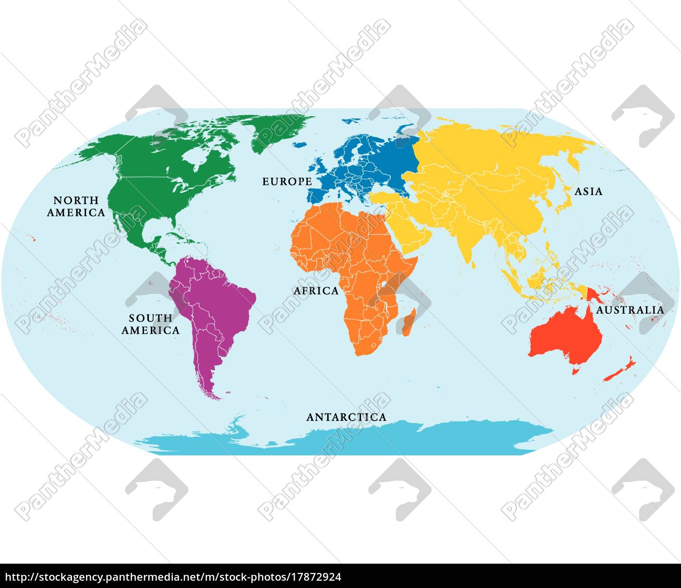 World Map With Australia.Royalty Free Vector 17872924 Seven Continents World Map