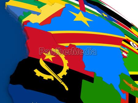democratic republic of congo on 3d