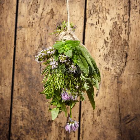 bouquet garni of assorted fresh herbs