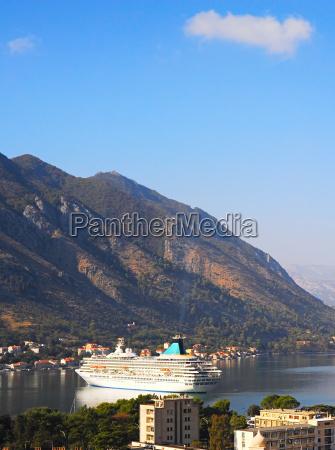 cruise liner in montenegro