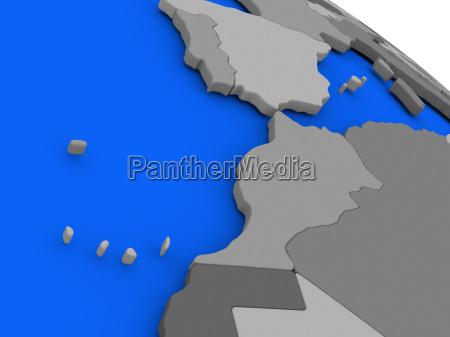 morocco on political earth model
