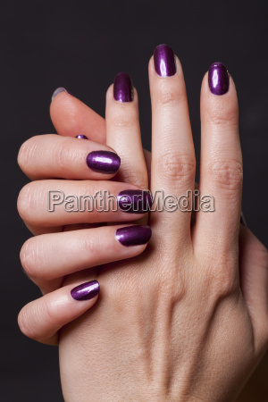 female hands as close up isolated