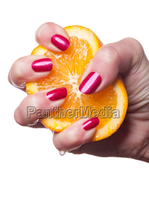 hand with well kept fingernails and