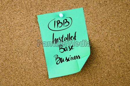 business acronym ibb installed base business