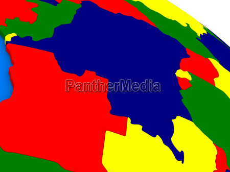 democratic republic of congo on colorful