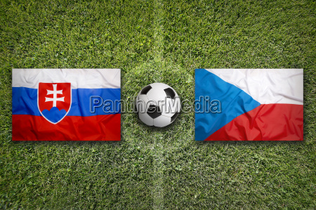 slovakia vs czech republic flags on
