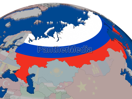 russia with flag
