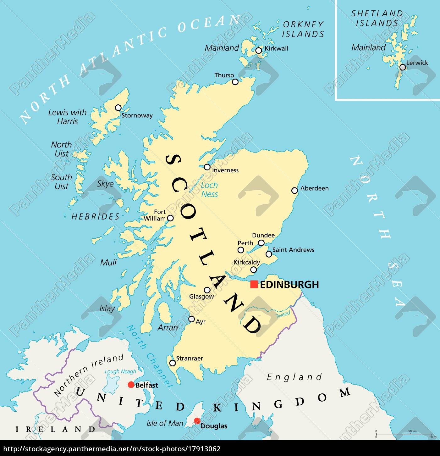 Douglas Karte.Royalty Free Vector 17913062 Independent Scotland Political Map
