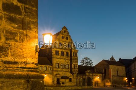 illumiated historic building at night