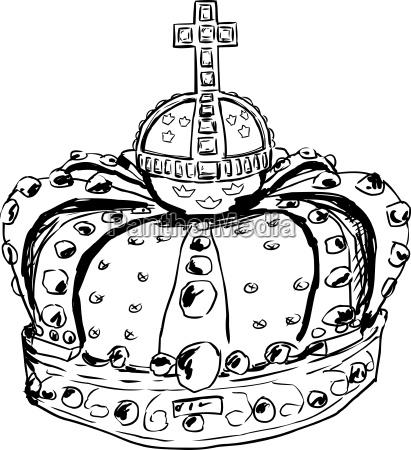 outline of crown queen lovisa ulrika