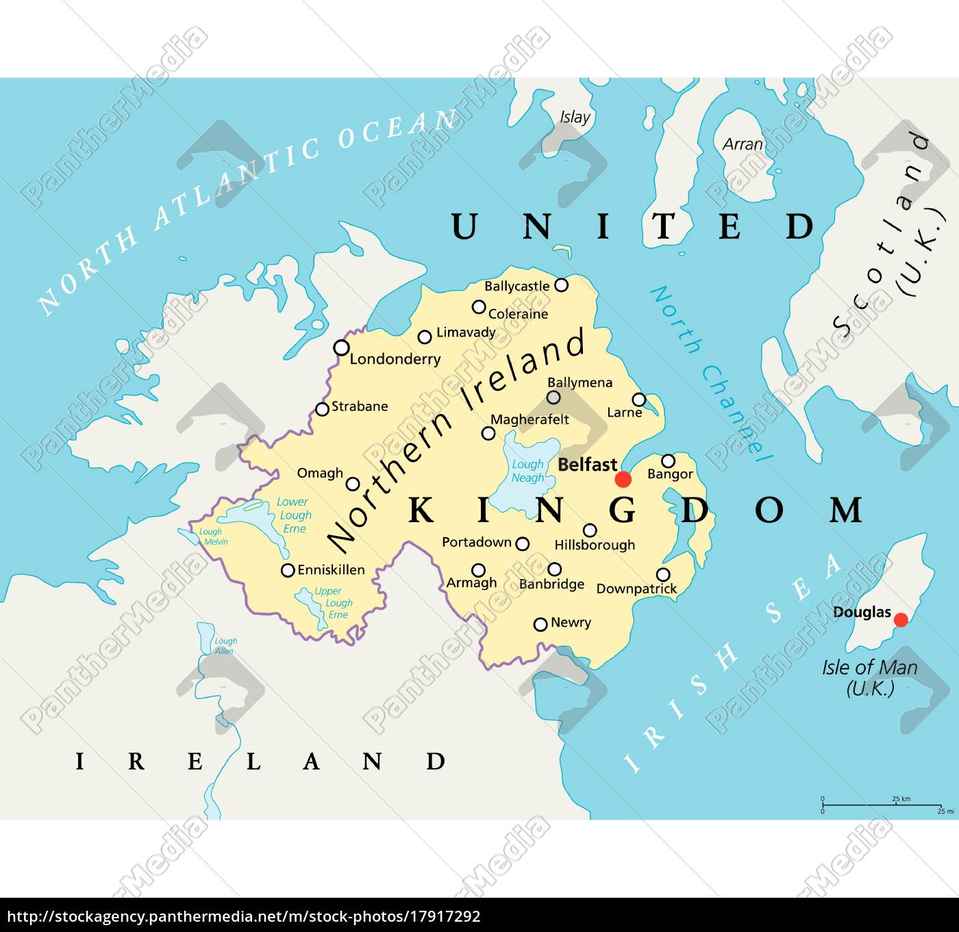 Map Of Ireland Northern Ireland.Royalty Free Vector 17917292 Northern Ireland Political Map