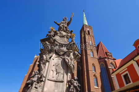 wroclaw nepomuk monument wroclaw the