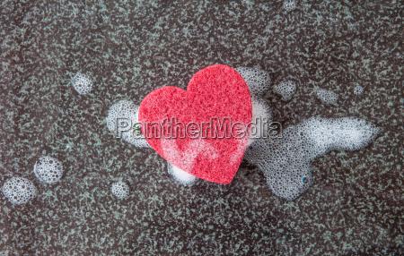 sponge heart shaped