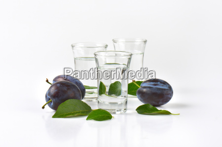 shots of plum brandy slivovitz