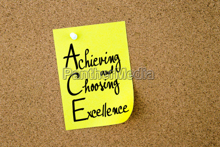ace achieving and choosing excellence written