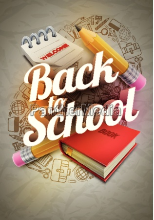 welcome back to school poster design