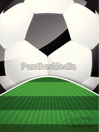 abstract soccer brochure with ball and