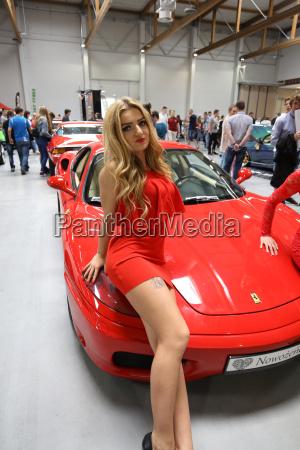 ferrari car displayed at 3rd