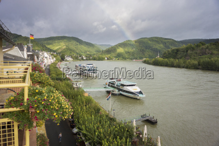 river rhine at boppard germany