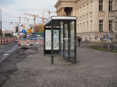 bus stop in berlin