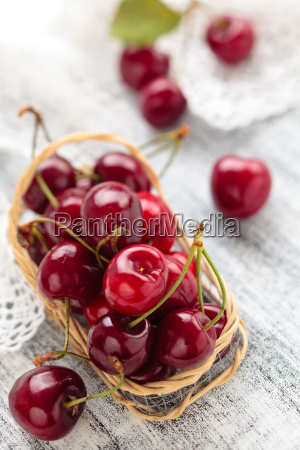 fresh ripe cherries