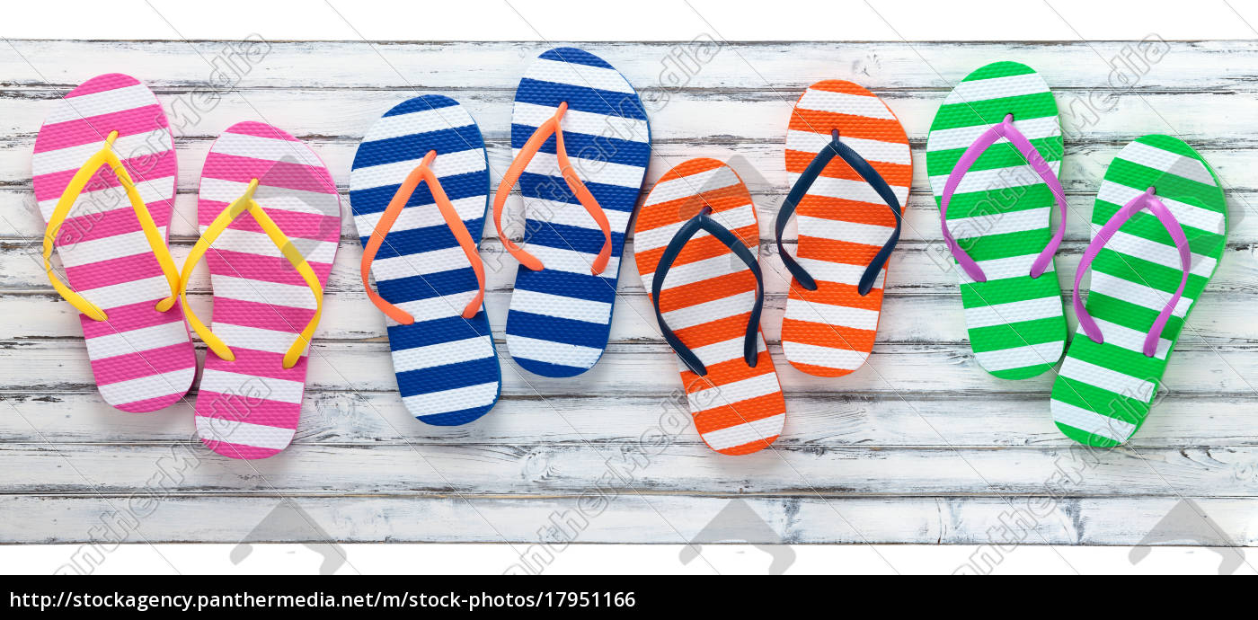 cd650df4152b86 Colorful Flip Flops. - Royalty free image -  17951166 - PantherMedia ...
