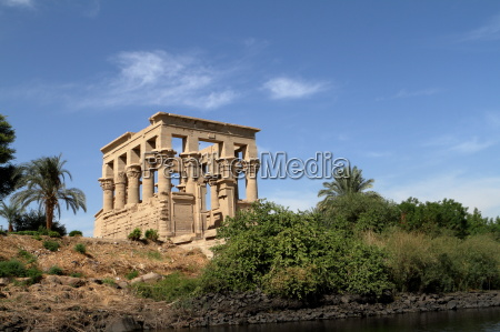 the trajan temple of philae in