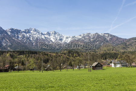 scenic rural landscape with mountains