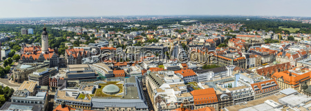 panoramic view of leipzig