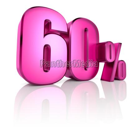 sixty percent sign