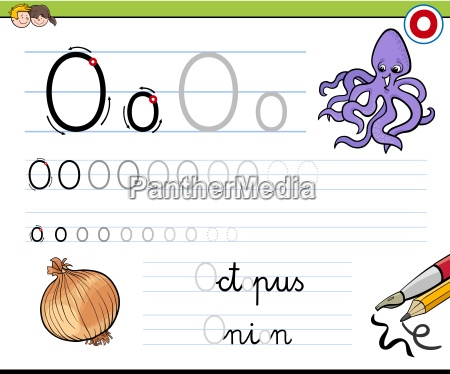 how to write letter o